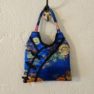 Handbags - Silky blue floral mini bag